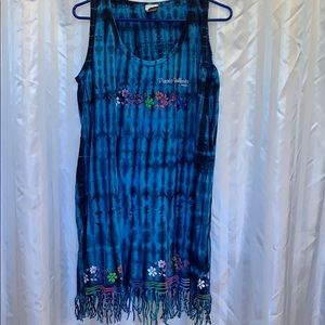 Beach Wear Neon Women's blue pullover swimsuit